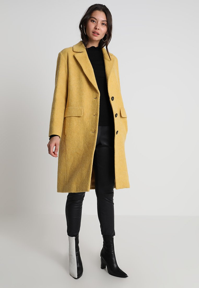 Marc O'Polo - COAT LOOSE FIT SINGLE BREASTED - Wollmantel/klassischer Mantel - sweetcorn