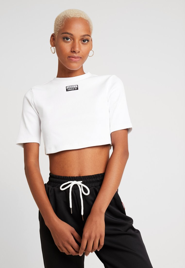 adidas Originals - TEE - T-Shirt basic - white/black