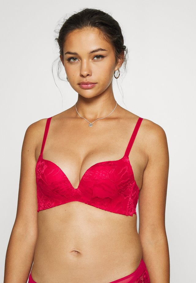 ANNY NON WIRE BRA  - Push up -rintaliivit - red