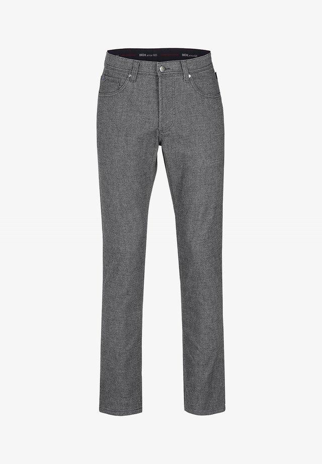 MIT GERADEM BEIN - Trousers - light gray