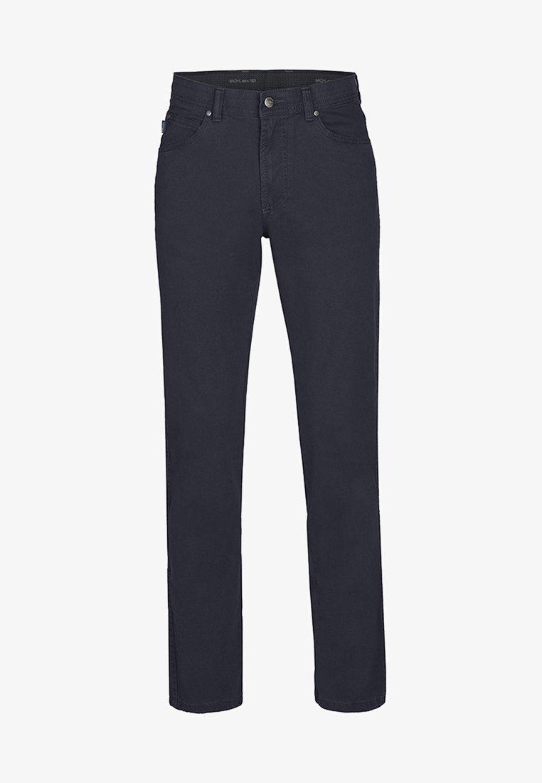 Brühl - MIT ANGENEHMER HAPTIK - Straight leg jeans - marine