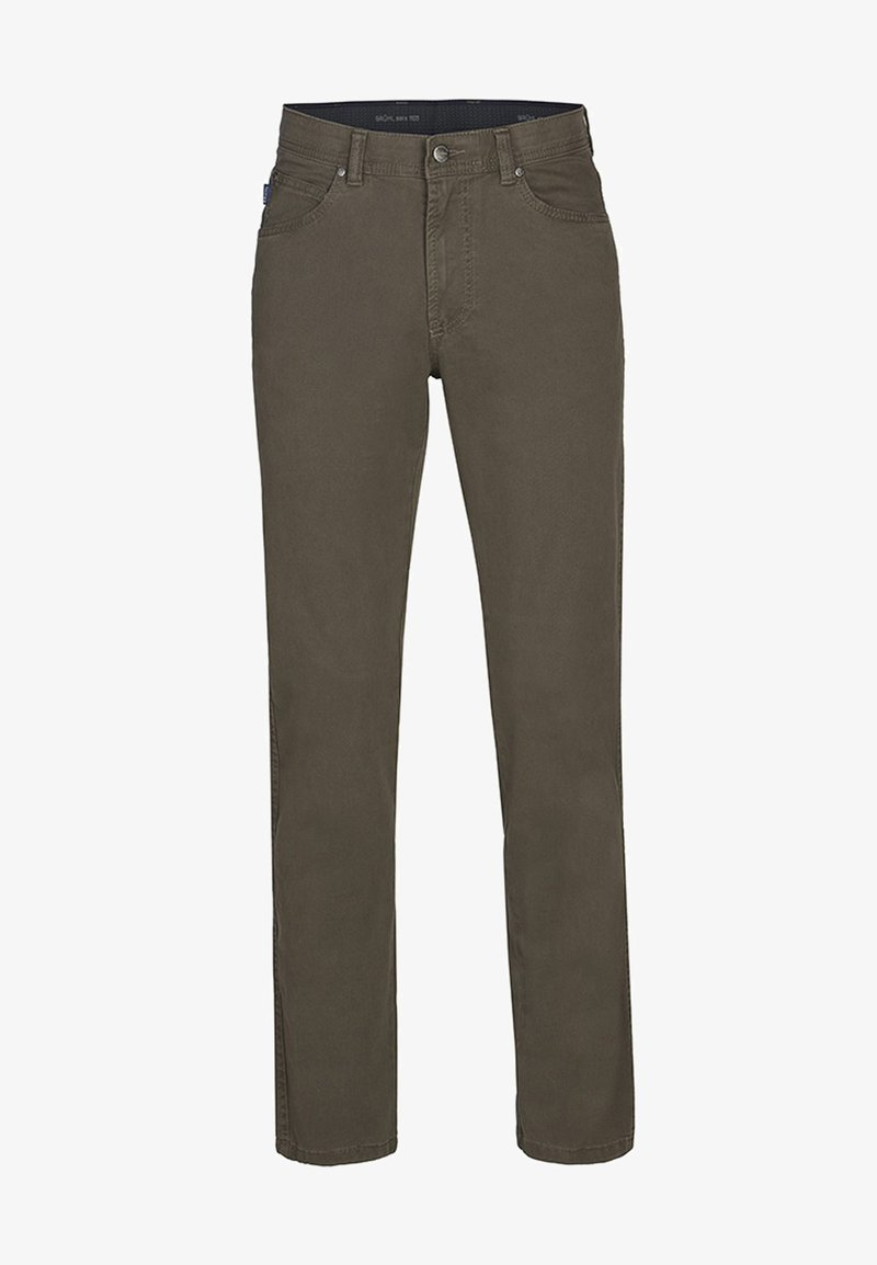 Brühl - MIT ANGENEHMER HAPTIK - Straight leg jeans - brown