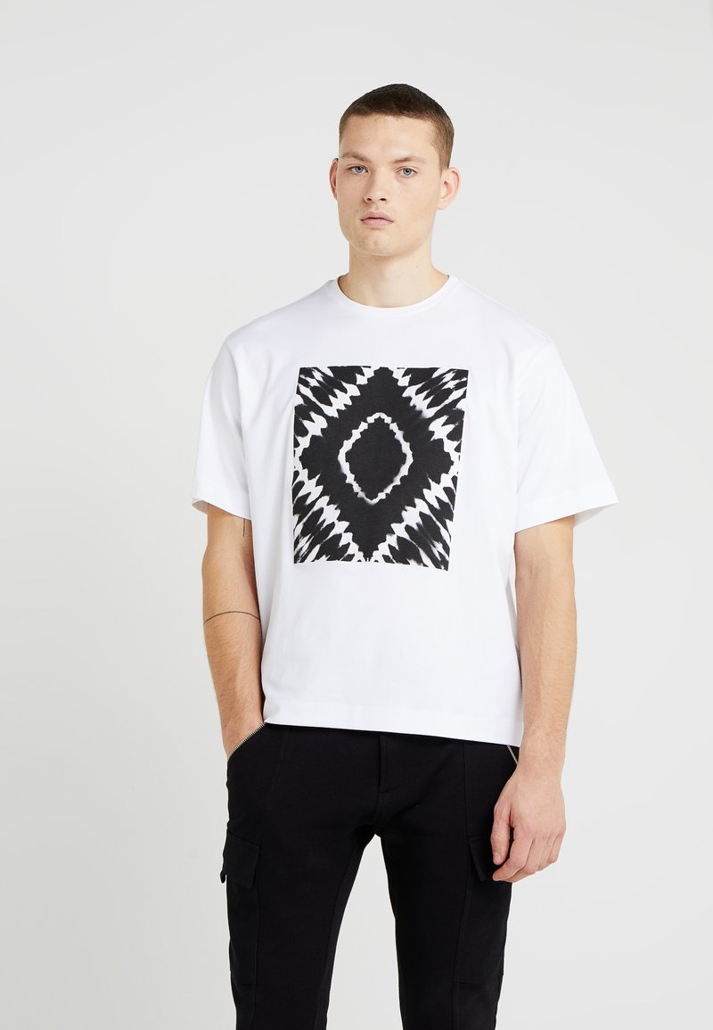 Diesel Black Gold - TEORIA TIEDYESQUARE MAGLIETTA - T-Shirt print - white