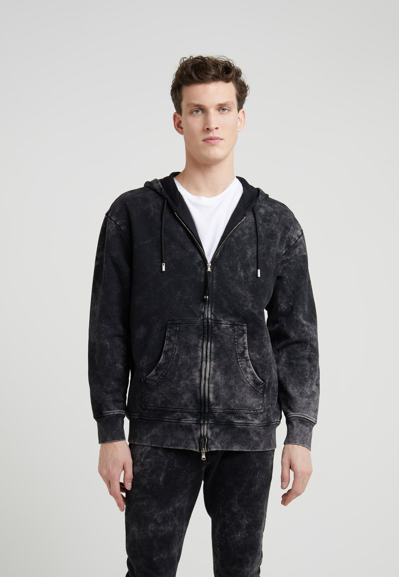 Diesel Black Gold - ZIP THROUGH SWEATSHIRT - veste en sweat zippée - black