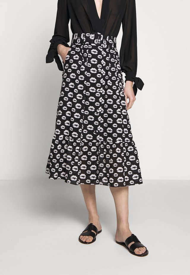 ERICA - Áčková sukně - black