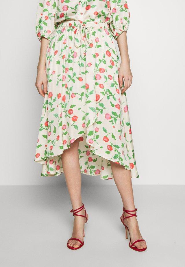 ELLA - Áčková sukně - creme