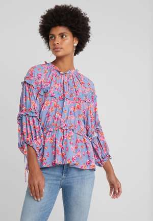 MIRA - Blouse - pacific blue print