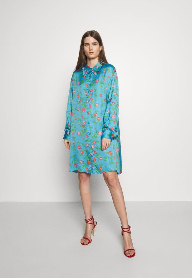 VIOLA - Shirt dress - pacific blue