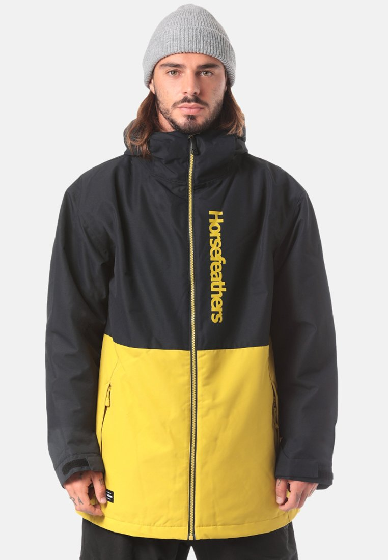 Horsefeathers - DAGGER  - Snowboard jacket - black/yellow