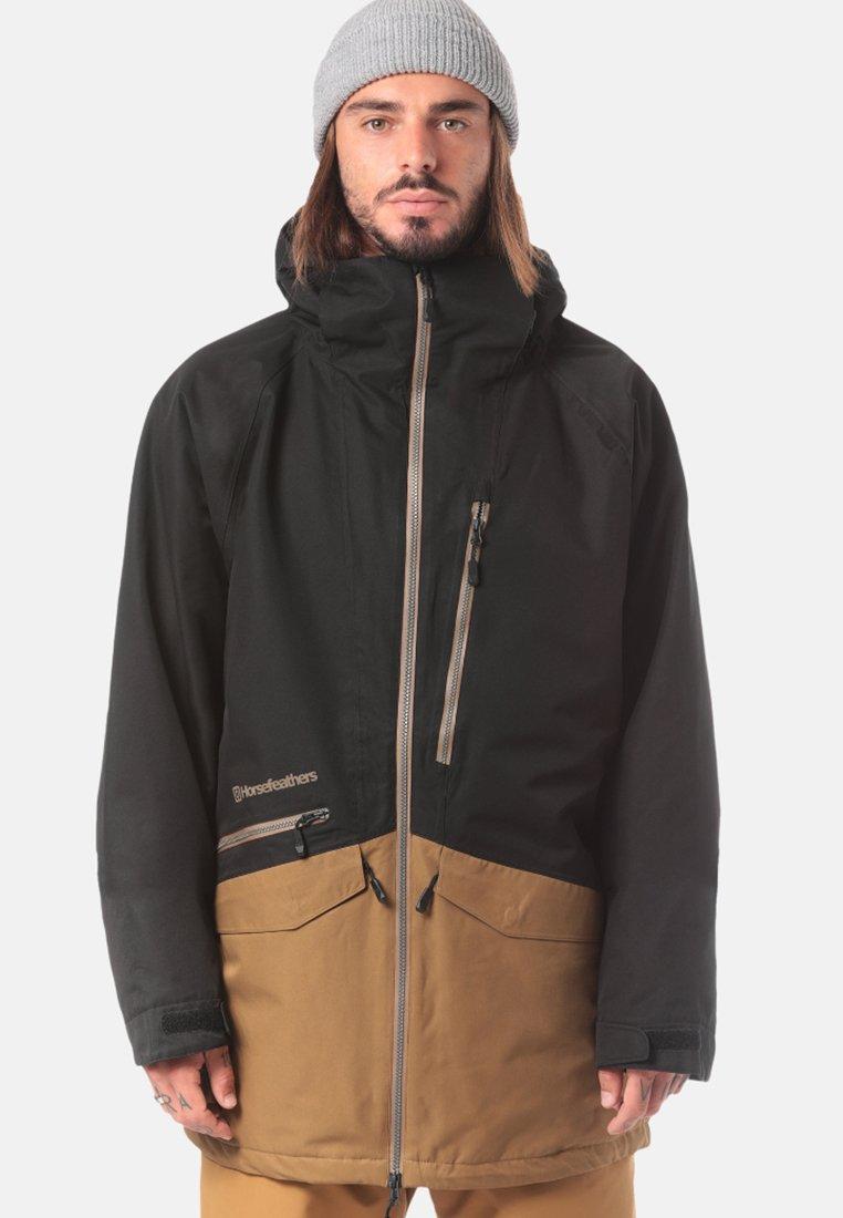 Horsefeathers - NIGHTHAWK - Snowboardjas - black/light brown