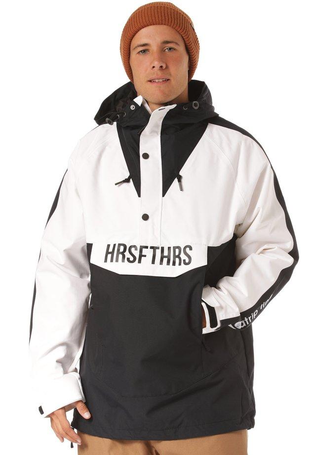 Snowboard jacket - black/white