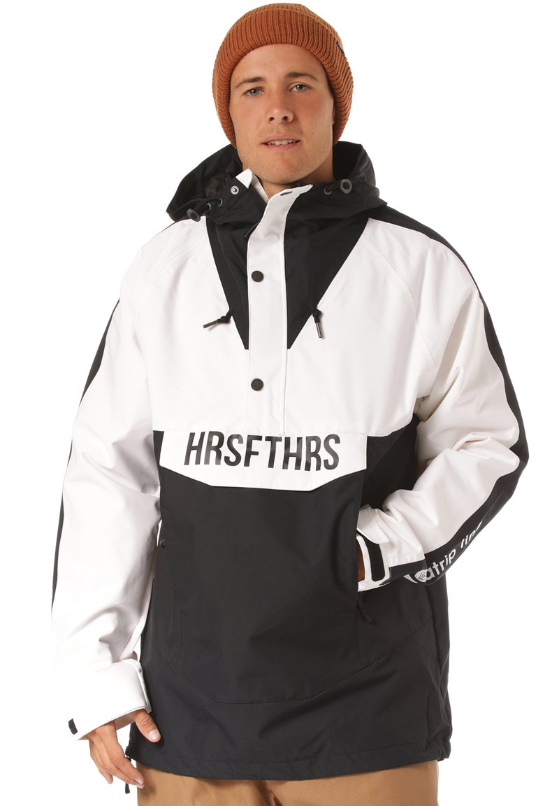 Horsefeathers - Snowboard jacket - black/white
