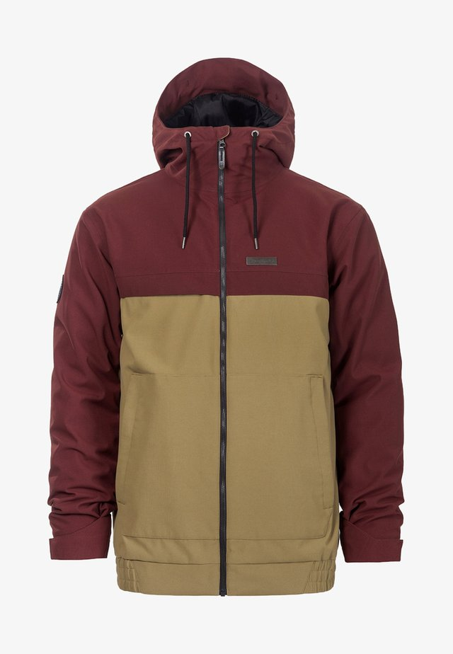 WILLIS - Snowboard jacket - beige/red
