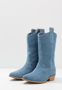 L37 - ON THE ROCKS - Cowboy/Biker boots - blue denim - 4