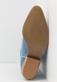L37 - ON THE ROCKS - Cowboy/Biker boots - blue denim - 6