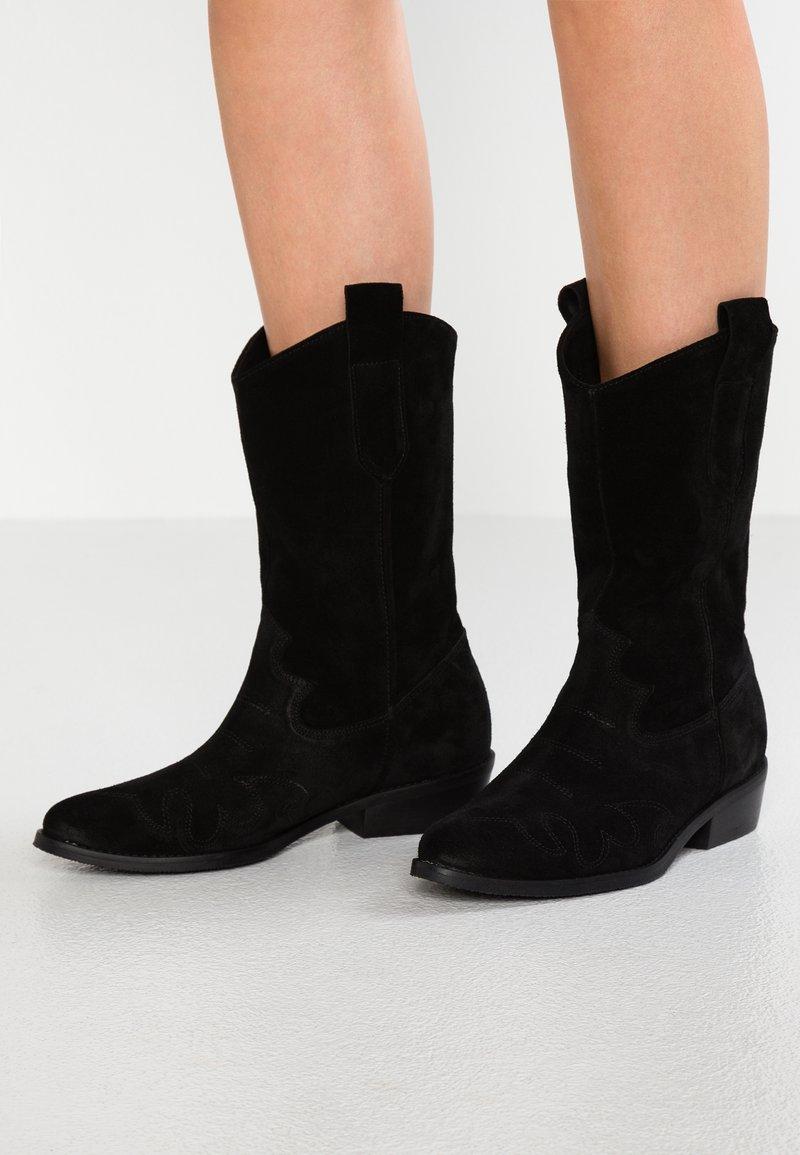 L37 - ON THE ROCK - Cowboy/Biker boots - black
