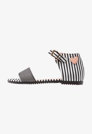 LOVE SANDALS - Sandals - black/white