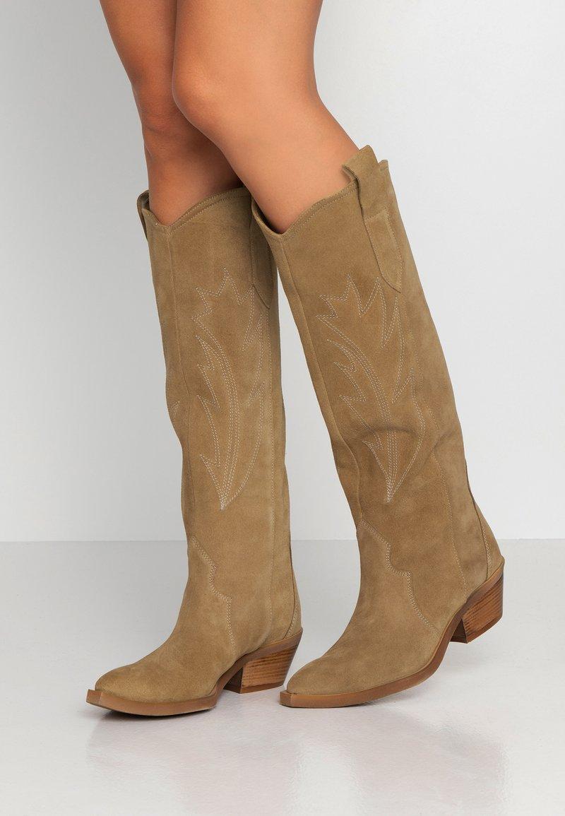 L37 - LET'S GET LOST - Cowboy/Biker boots - tan