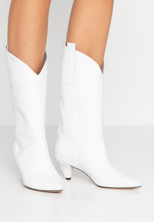 UPTOWN GIRL - Cowboy/Biker boots - white