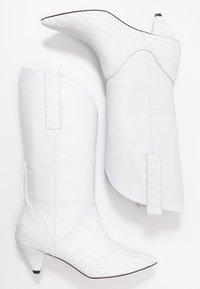 L37 - UPTOWN GIRL - Cowboy/Biker boots - white - 3