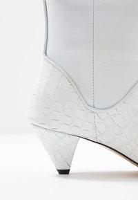 L37 - UPTOWN GIRL - Cowboy/Biker boots - white - 2
