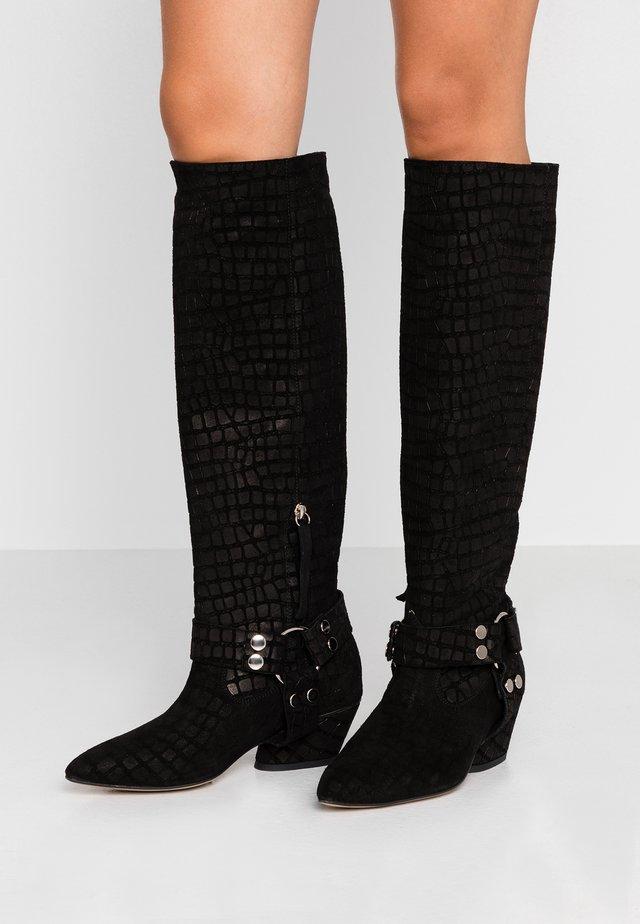 STARSTRUCK - Kovbojské/motorkářské boty - black