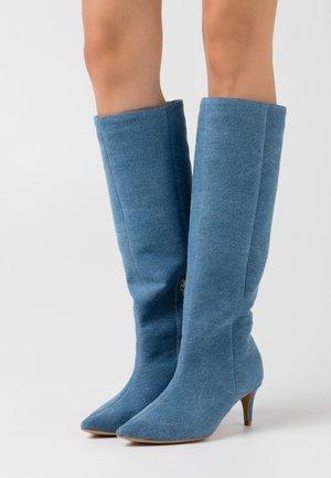 ALL I NEED - Boots - blue denim
