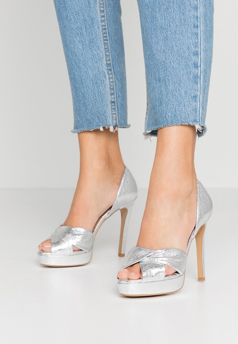 L37 - SOUNDS OF NIGHT - High heeled sandals - silver