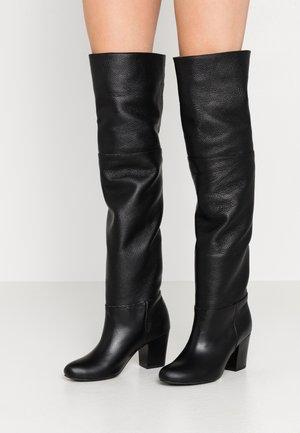 NIGHTCALL - Overknee laarzen - black