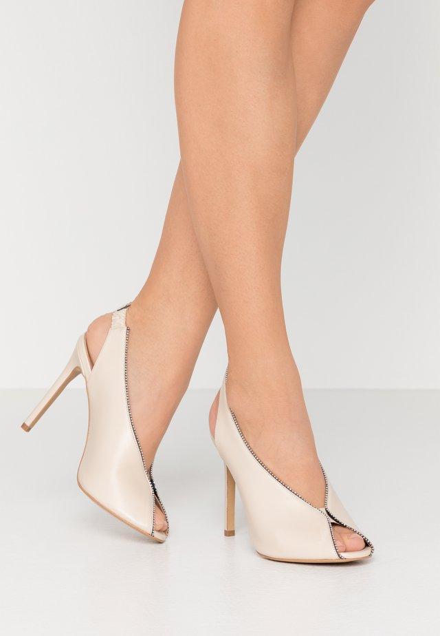 ONE TOUCH - Peeptoe heels - beige