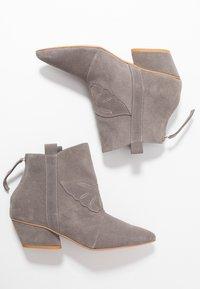L37 - FEEL MY NEEDS - Cowboy/biker ankle boot - grey - 3