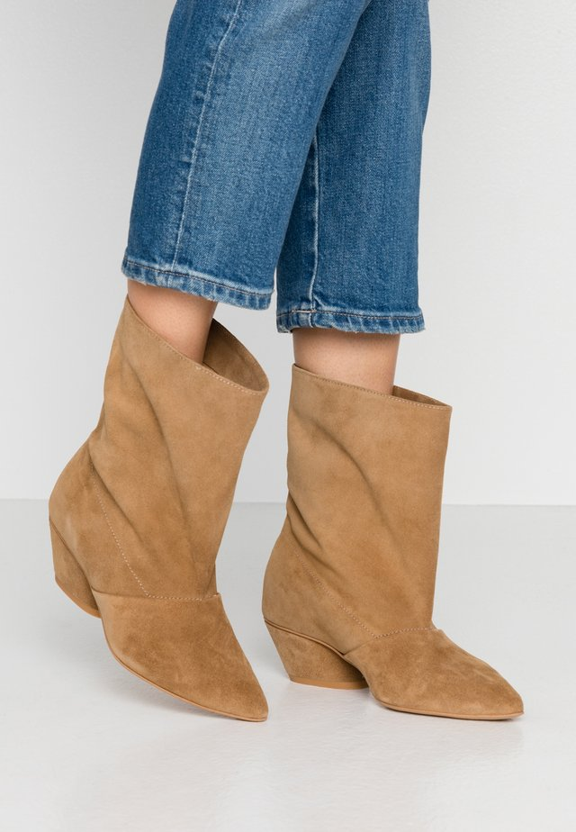 BRING THE NOISE - Classic ankle boots - beige
