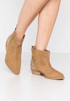ANYWHERE WE GO - Ankle boots - beige
