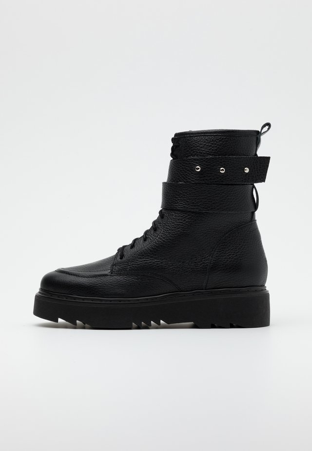 THE OTHER SIDE - Platform ankle boots - black