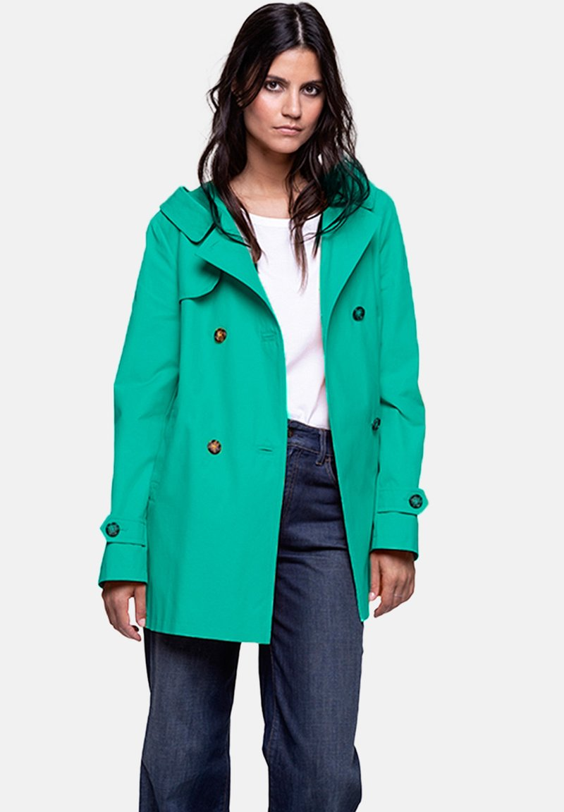 Trench and Coat by Lener - VACAJOU - Trenchcoat - green