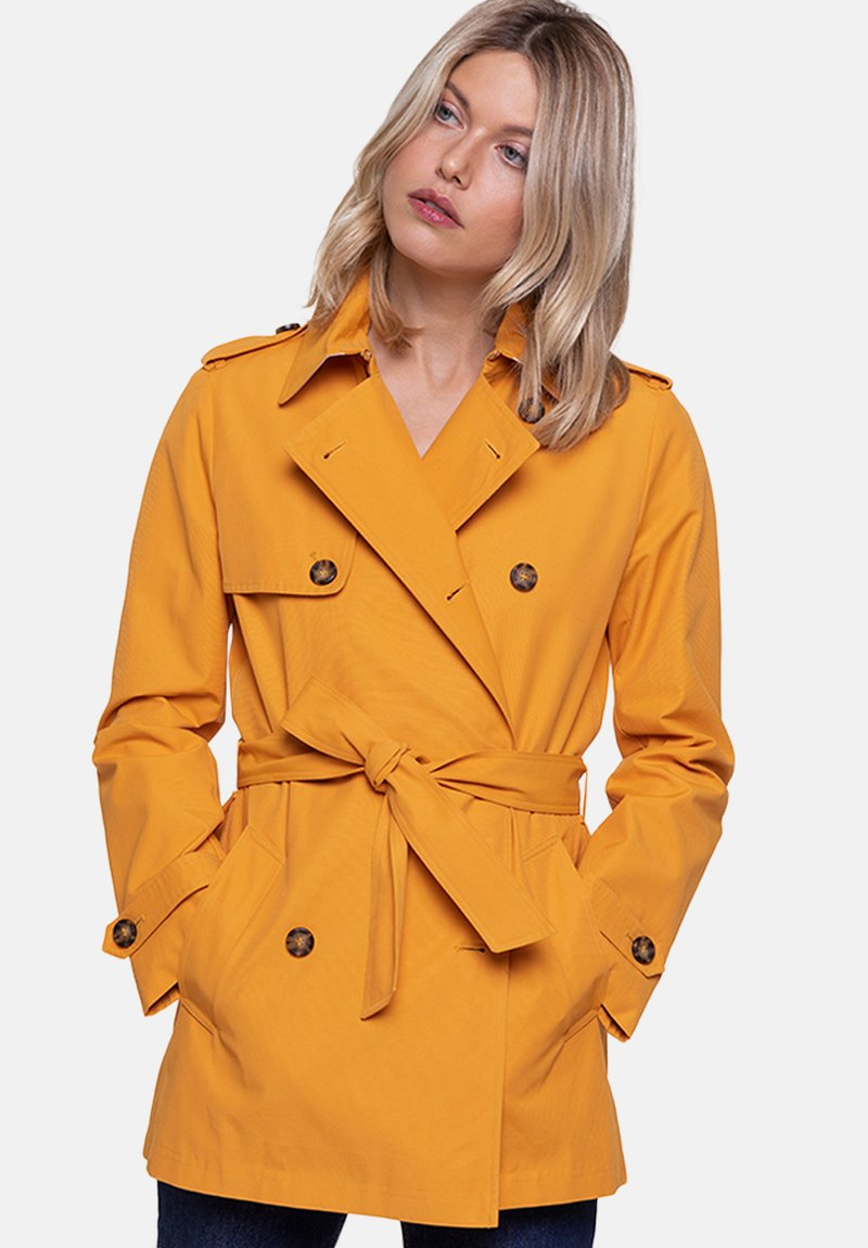 Trench and Coat by Lener - GASSIN - Trenchcoat - orange