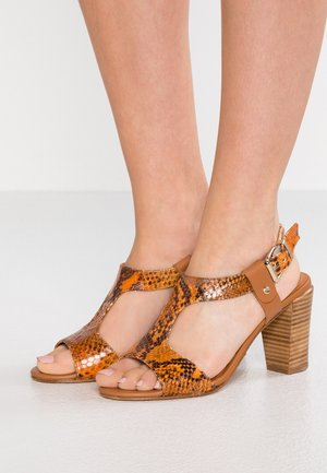 TALON - High heeled sandals - multicolor/orange