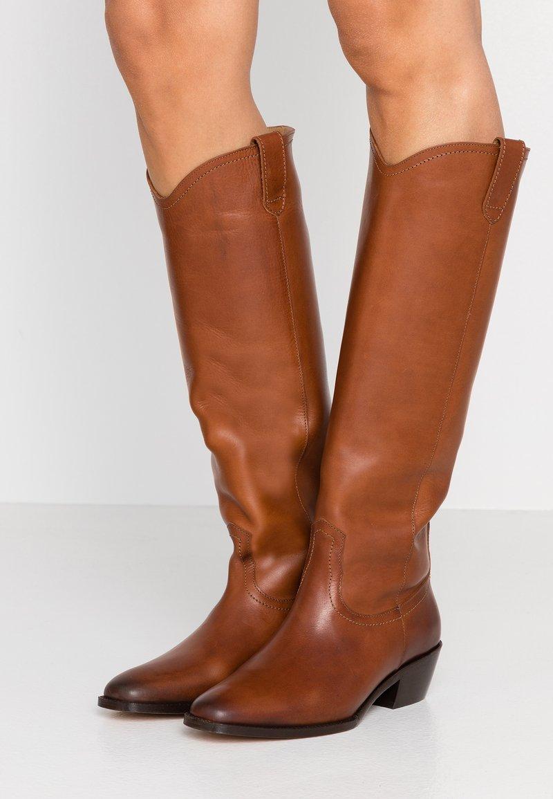 Vanessa Bruno - Cowboy/Biker boots - cognac