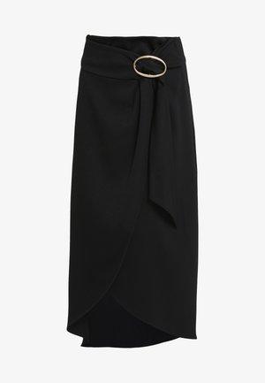 MOANA - Áčková sukně - noir