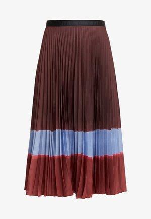 FADIA - Áčková sukně - aubergine