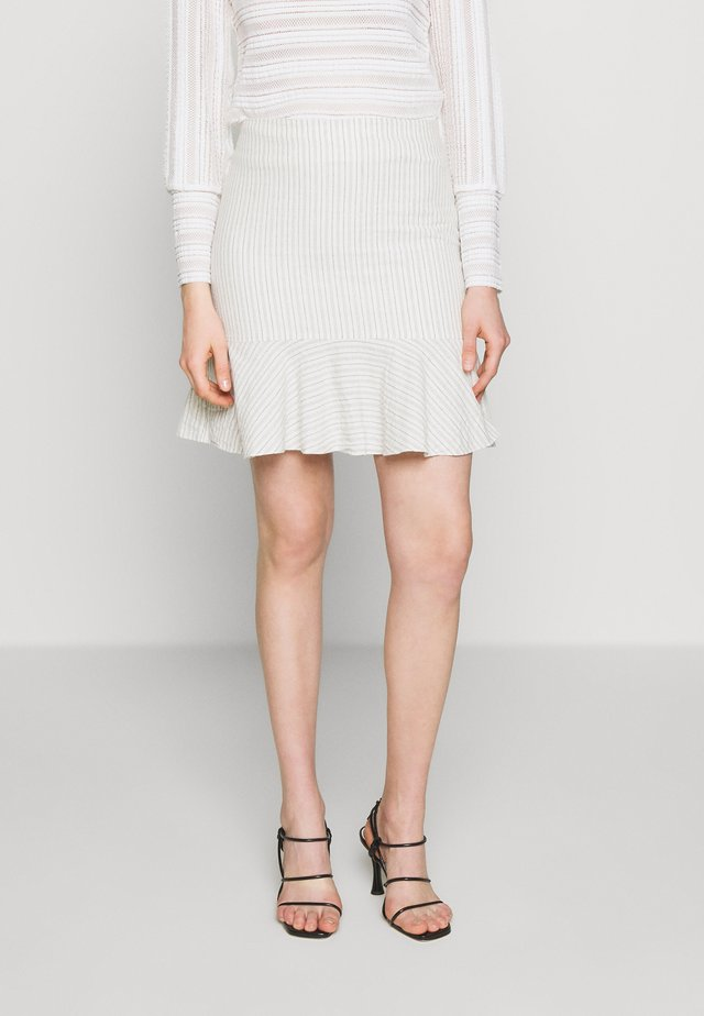 NATTY - Áčková sukně - ecru