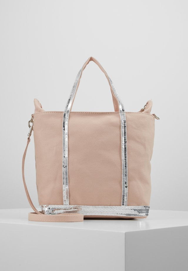CABAS PETIT - Across body bag - rose/argent