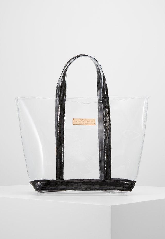 CABAS MOYEN - Tote bag - noir/citron