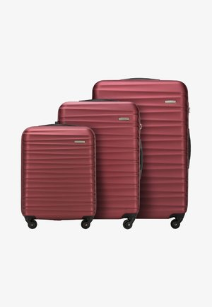GROOVE LINE 3 PACK - Luggage set - red
