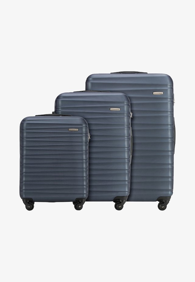 GROOVE LINE 3 PACK - Luggage set - blue