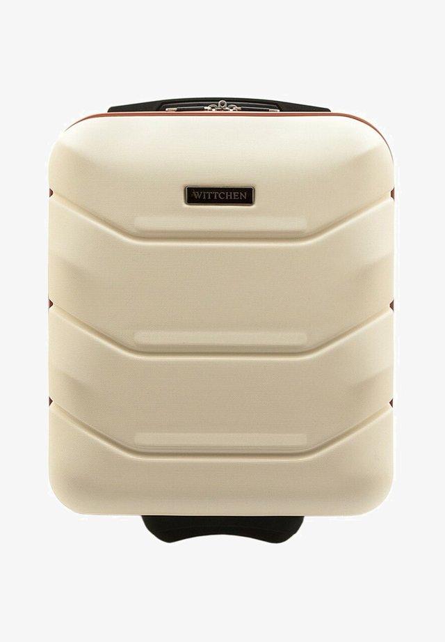Wheeled suitcase - beige