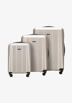 3 PACK - Wheeled suitcase - hellgrau