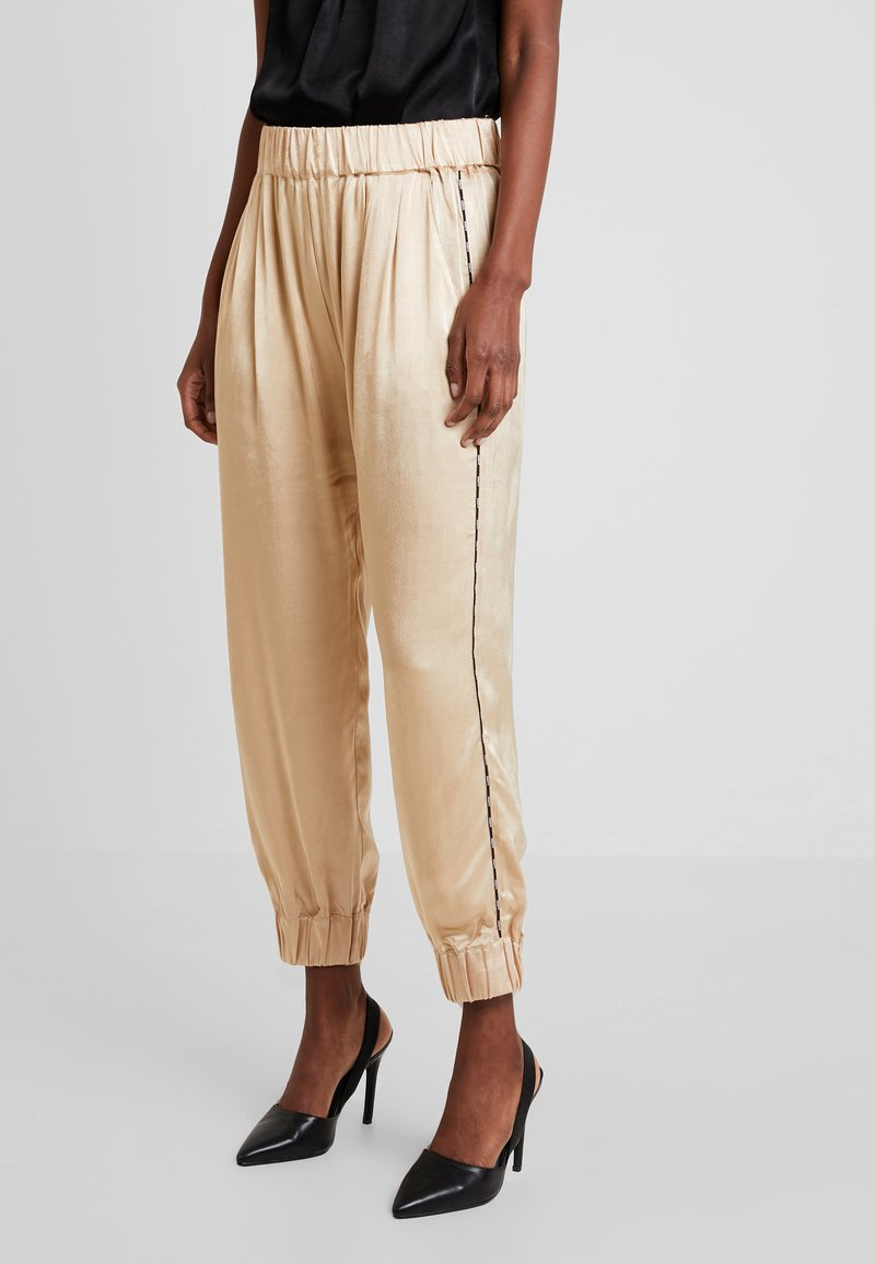 10DAYS - WIDE PANTS - Broek - champagne