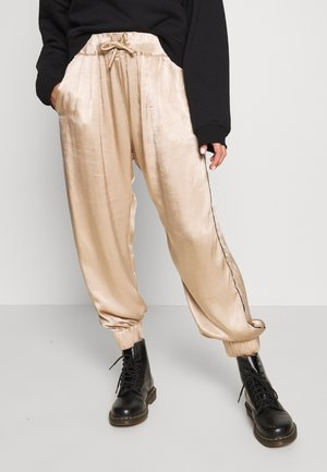 WIDE PANTS - Trousers - champagne