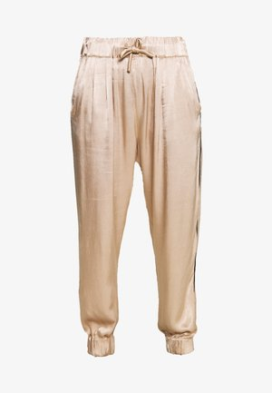 WIDE PANTS - Kalhoty - champagne